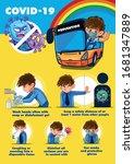 coronavirus prevention of bus... | Shutterstock .eps vector #1681347889