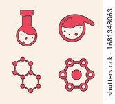 set chemical formula  test tube ... | Shutterstock .eps vector #1681348063