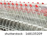 Close Up Of Shopping Trolleys