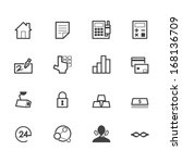 bank black icon set on white... | Shutterstock .eps vector #168136709