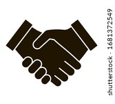 business handshake black icon ... | Shutterstock .eps vector #1681372549
