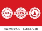 set of holiday badges | Shutterstock .eps vector #168137258