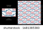 please stay home seamless...   Shutterstock .eps vector #1681385383