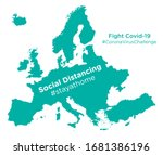 europe map with social... | Shutterstock .eps vector #1681386196