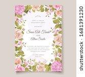 elegant wedding invitation card ...   Shutterstock .eps vector #1681391230