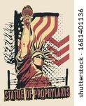 statue of liberty coronavirus... | Shutterstock .eps vector #1681401136