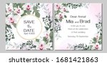 vector floral template for...   Shutterstock .eps vector #1681421863