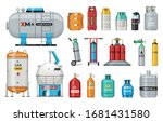 set of vector gas cylinder.... | Shutterstock .eps vector #1681431580