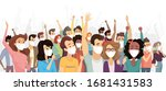 people wearing medical masks... | Shutterstock .eps vector #1681431583