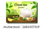 green tea creative promo... | Shutterstock .eps vector #1681437319
