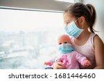 Little Girl In Hospital. Child...