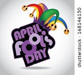 april fool      s day design... | Shutterstock .eps vector #168146150