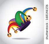 jester's hat. eps 10 vector ... | Shutterstock .eps vector #168146156