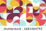 mid century geometric abstract... | Shutterstock .eps vector #1681464793