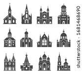 Church Icon Set  Traditional...