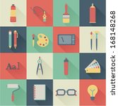 set of flat graphic design icons | Shutterstock .eps vector #168148268