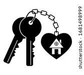 house keys vector black...   Shutterstock .eps vector #1681498999