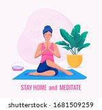 covid 19 virus. staying home... | Shutterstock .eps vector #1681509259