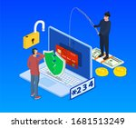 internet phishing and hacking... | Shutterstock . vector #1681513249