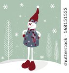 christmas greeting card with ... | Shutterstock . vector #168151523