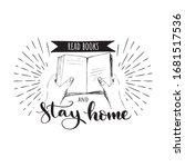 stop coronavirus read books and ... | Shutterstock .eps vector #1681517536