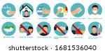 hand sanitizers. coronavirus... | Shutterstock .eps vector #1681536040