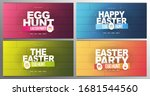 happy easter. set of party... | Shutterstock .eps vector #1681544560