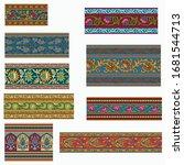 abstract horizontal less border ... | Shutterstock .eps vector #1681544713