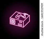 pc power supply neon icon....