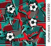 abstract seamless football...   Shutterstock .eps vector #1681558930