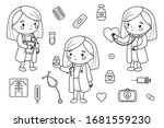 Coloring Page For Children. Set ...