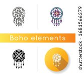 Boho Style Dreamcatcher Icon....