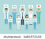doctors  nurses and medical... | Shutterstock .eps vector #1681572133