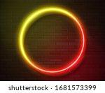 futuristic sci fi modern neon... | Shutterstock .eps vector #1681573399