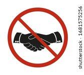 no handshake icon. flat design. ... | Shutterstock .eps vector #1681575256
