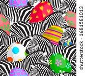 Zebra Seamless Pattern With...