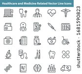 healthcare and medicine related ... | Shutterstock .eps vector #1681590823