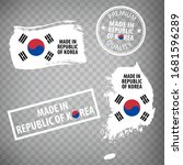 made in  republic of korea... | Shutterstock .eps vector #1681596289