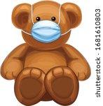 vector  baby bear cartoon in... | Shutterstock .eps vector #1681610803