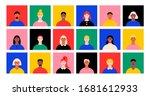 people face avatar set. diverse ... | Shutterstock .eps vector #1681612933