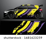 rally car decal graphic wrap... | Shutterstock .eps vector #1681623259