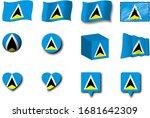 various designs of the saint...   Shutterstock . vector #1681642309