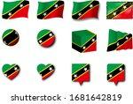 various designs of the saint...   Shutterstock . vector #1681642819