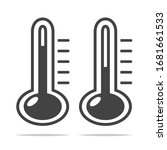 high and low temperature icon... | Shutterstock .eps vector #1681661533