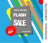 modern flash sale banner and...   Shutterstock .eps vector #1681663756