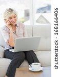 smiling beautiful businesswoman ... | Shutterstock . vector #168166406