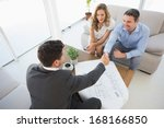 high angle view of a smiling... | Shutterstock . vector #168166850