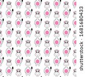 seamless pattern cute giraffe... | Shutterstock .eps vector #1681680433