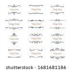 hand drawn set of decorative... | Shutterstock .eps vector #1681681186