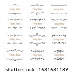 hand drawn set of decorative... | Shutterstock .eps vector #1681681189
